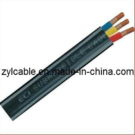 C ble submersible de pompe de c ble plat c ble plat en - Cable electrique plat ...