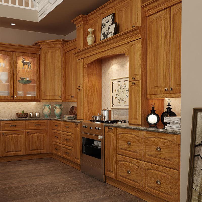 Foto de Oppein clásico de Brown de madera maciza Muebles de Cocina (OP15-S11)...