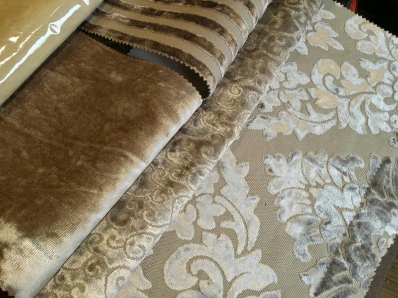 tissu classique de luxe de sofa de tapisserie d 39 ameublement de velours de pile de coupe de noir. Black Bedroom Furniture Sets. Home Design Ideas