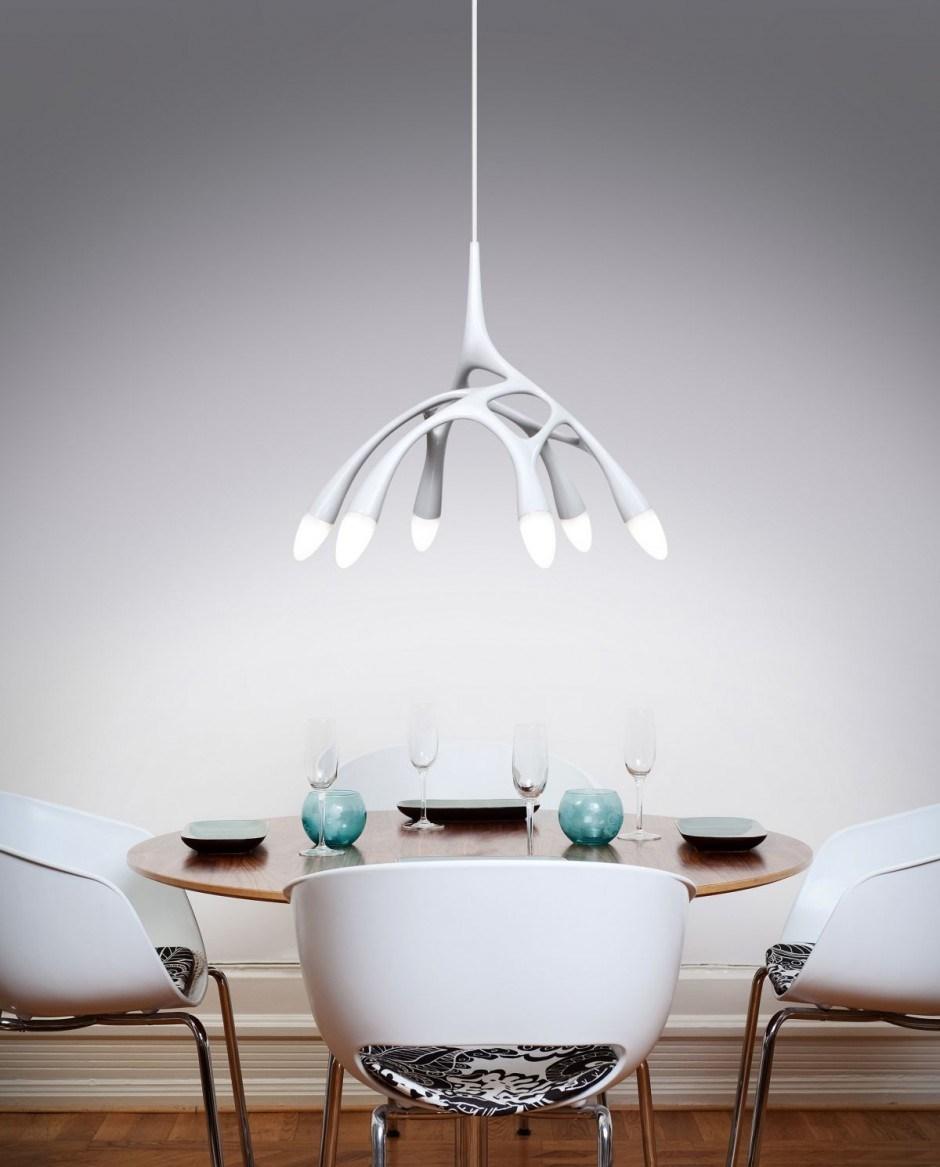 De moderne Lamp van de Tegenhanger, de Met zwemvliezen Verlichting van ...