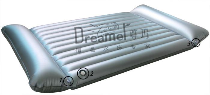 matelas gonflable de massage d 39 air de la double d 39 oreiller eau de sauna j125 matelas. Black Bedroom Furniture Sets. Home Design Ideas