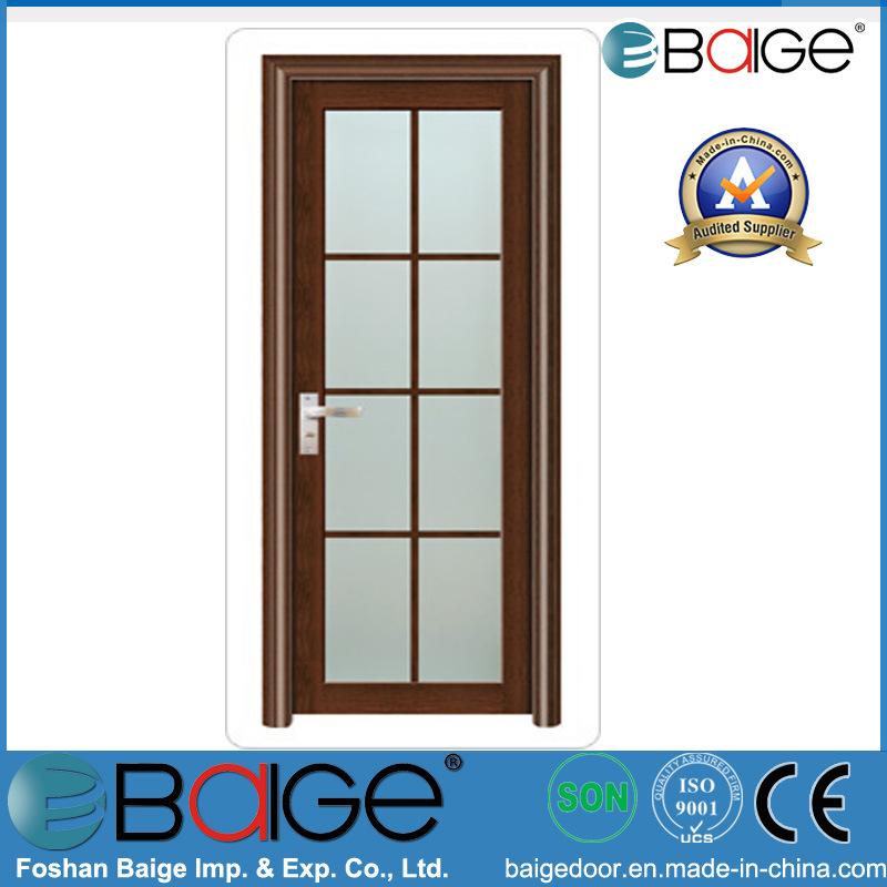 Puerta interior de aluminio impermeable del cuarto de ba o for Puertas de aluminio para cuartos