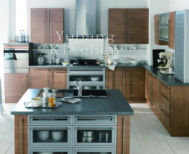 Cocina de la melamina gabinete de cocina moderno m2012 for Gabinetes de cocina en melamina