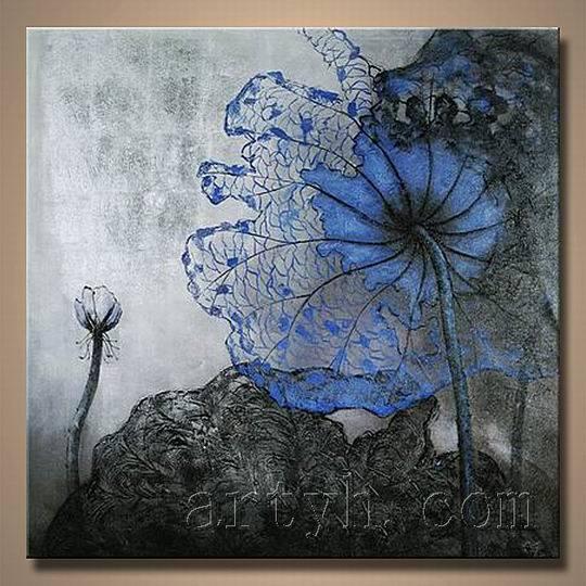 Peinture l 39 huile abstraite moderne de fleur peinture - Peinture fleur moderne ...