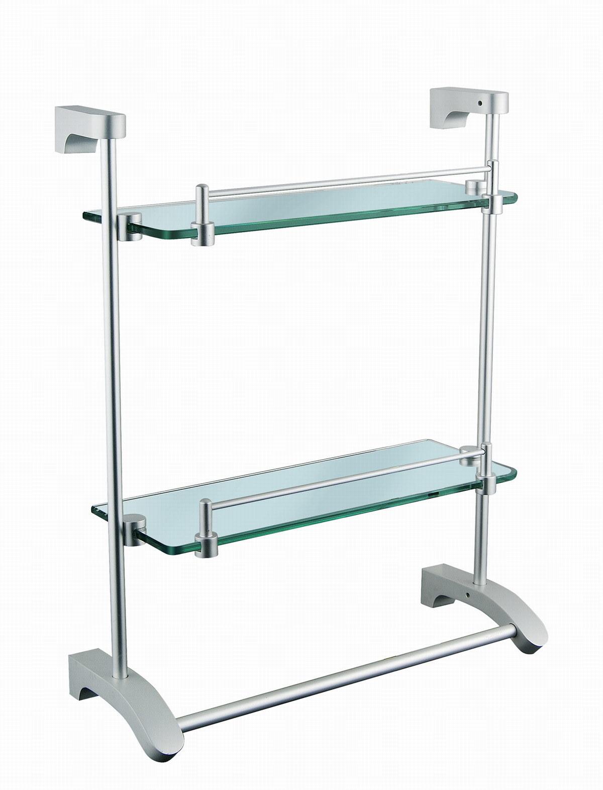 de vidro Encaixe Dobro do banheiro (KD 6614A) –Prateleira de vidro  #24604E 1200 1571