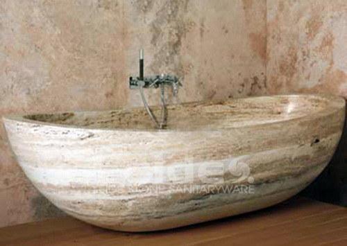 Vasca da bagno beige del travertino ld i014 vasca da - Vasca da bagno in pietra ...