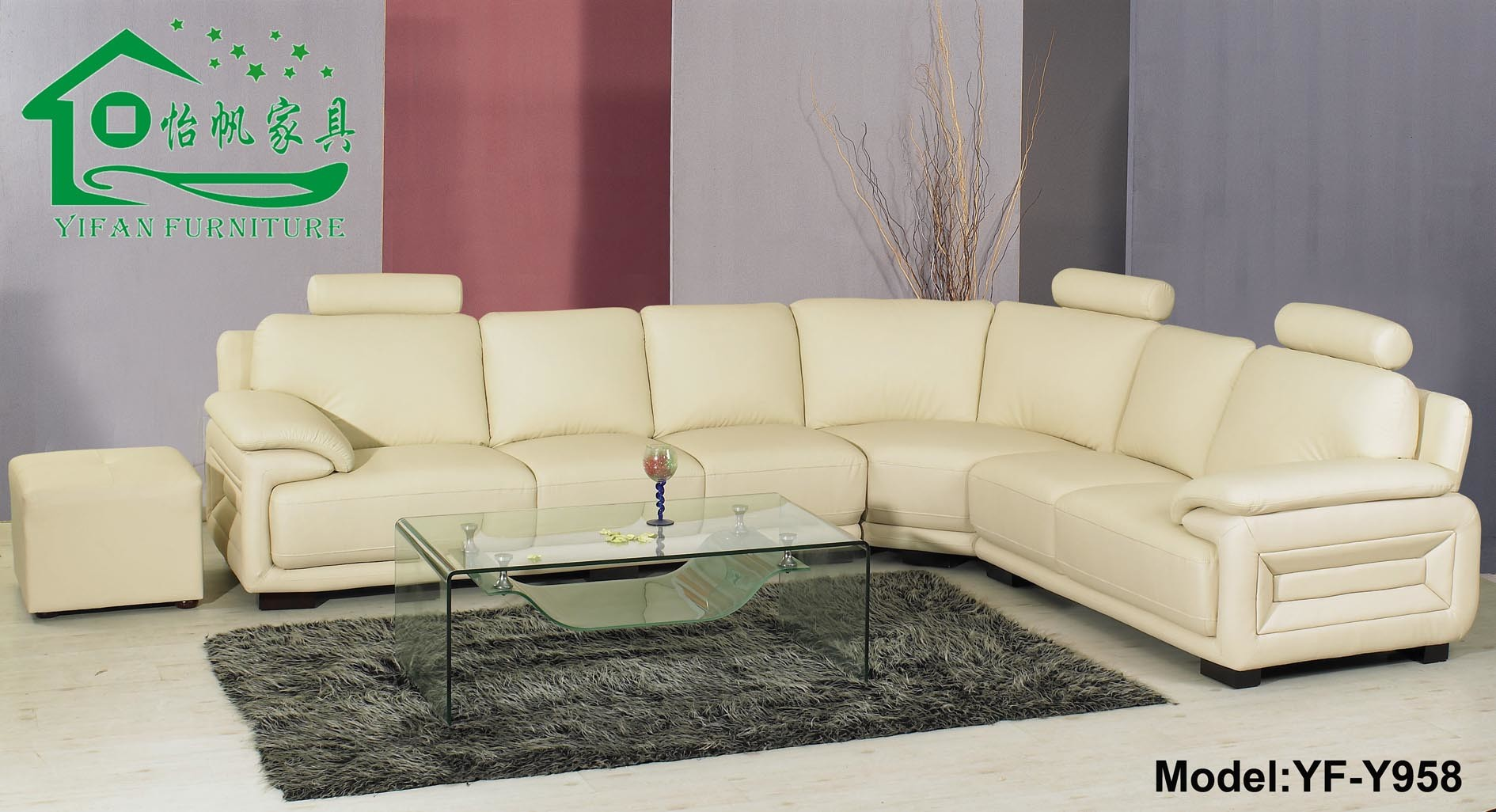 Sofa en cuir sofa lit de sofa faisants le coin yf y958 for Sofa lit cuir