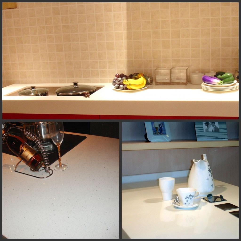 Partie sup rieure du comptoir de quartz pour la cuisine et La cuisine de comptoir