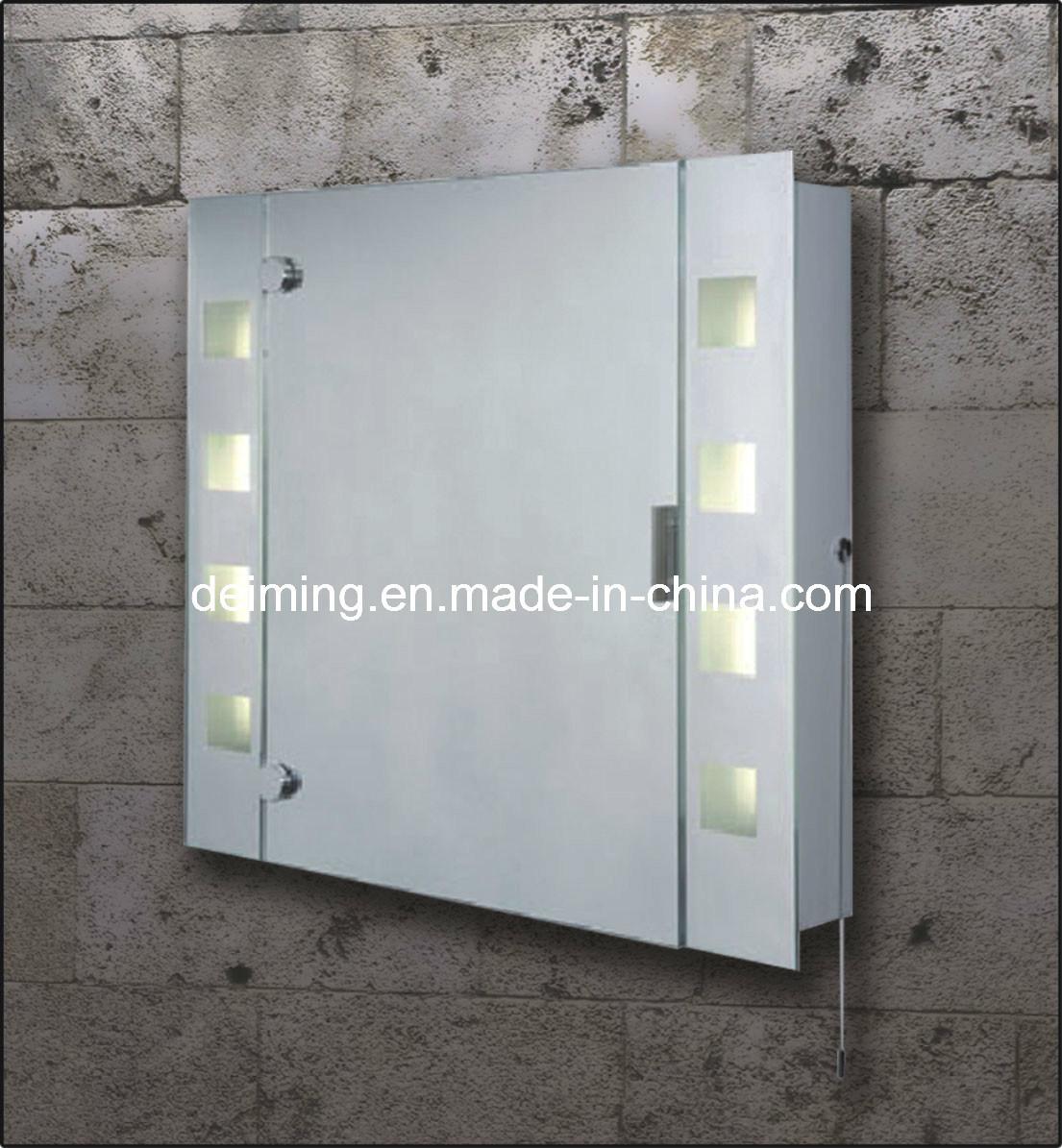 espelho do banheiro com luz/armário iluminado do espelho do banheiro #606E5D 1105x1195 Armario Banheiro De Embutir
