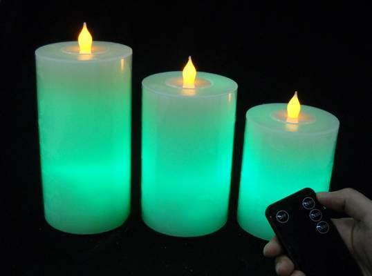 Набор свечей (3 шт:2 свечи гель+ 1 свеча воск) аромат роза, розовый