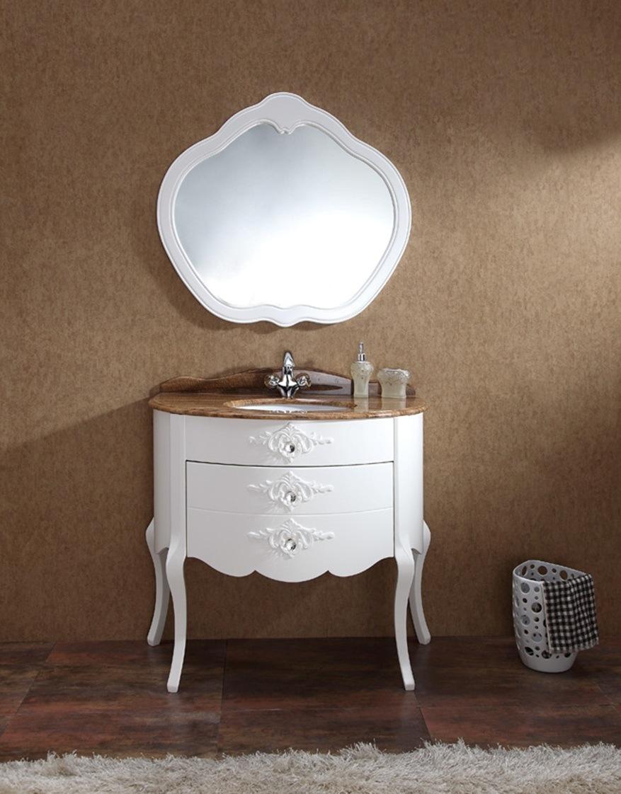 Vanit blanche de salle de bains de couleur cabinet de for Cabinet de salle de bain