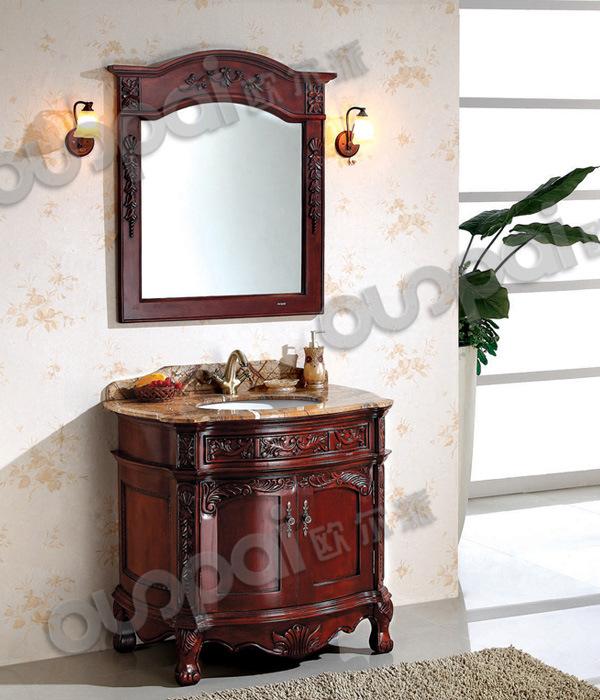 Vanit en bois antique de cabinet de salle de bains salle for Cabinet de salle de bain