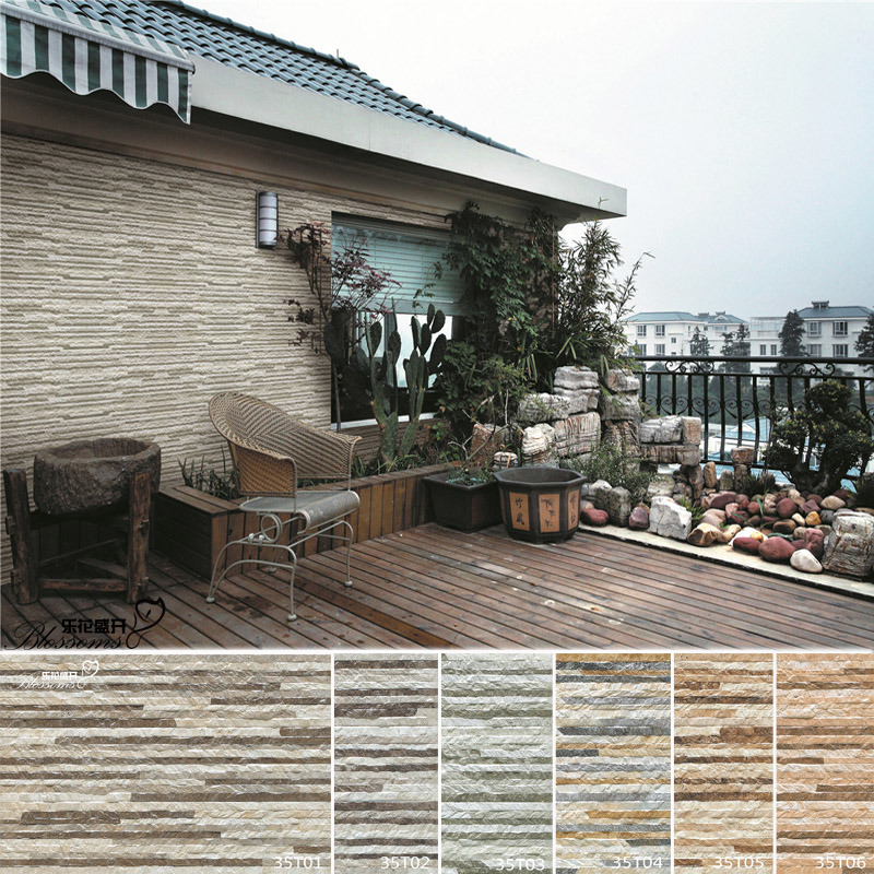 Foto de telha de pedra cer mica r stica da parede 3d for Ceramica rustica para exteriores
