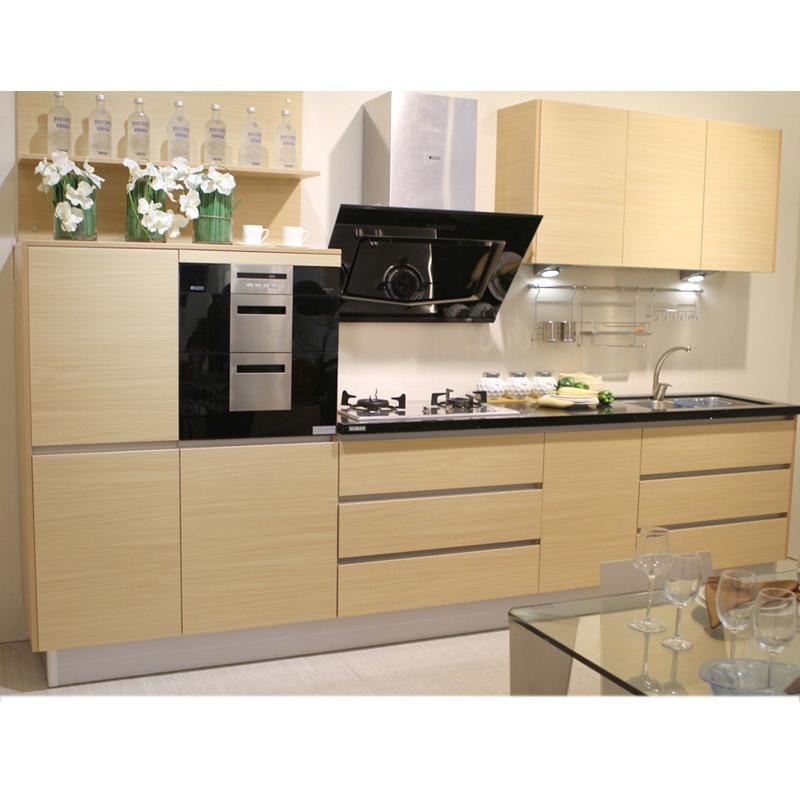 Ligne moderne petit module de cuisine de m lamine shaped for Module cuisine
