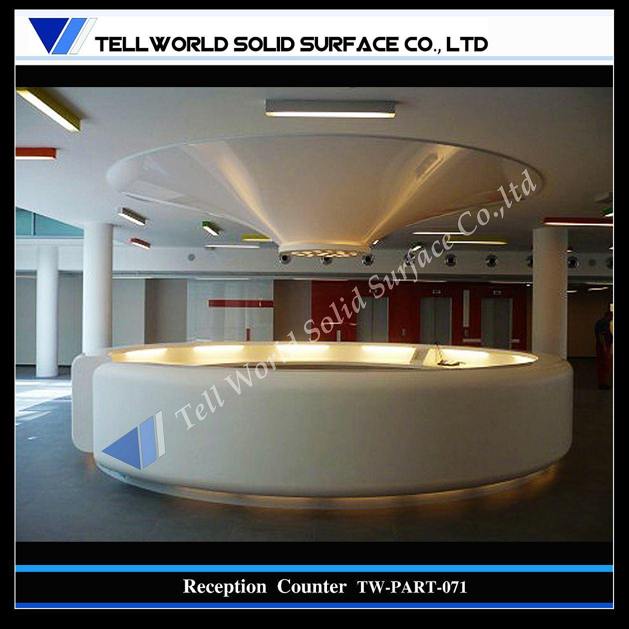 SGS 증명서 (TW-071)를 가진 현대 디자인 살롱 수신 카운터에사진 kr ...