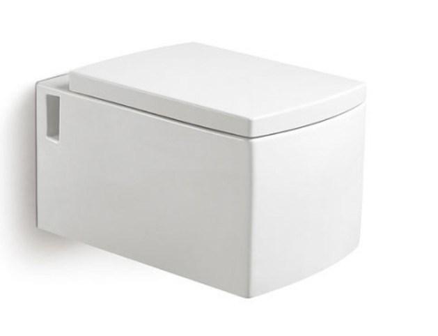 Cuvette de toilette en c ramique fix e au mur carr e - Toilette au mur ...
