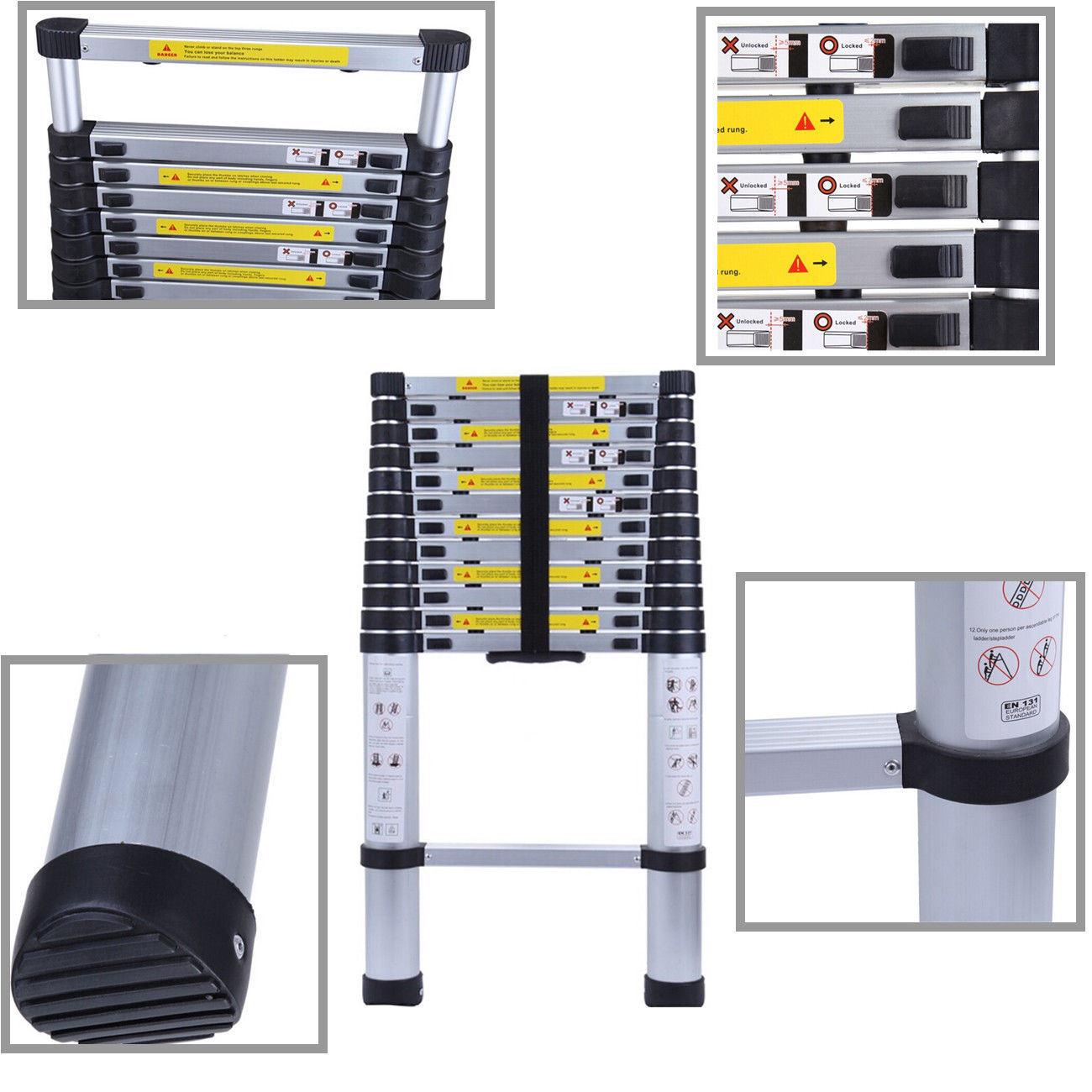 Escala de paso extensible plegable de aluminio telesc pica for Precio escalera aluminio extensible