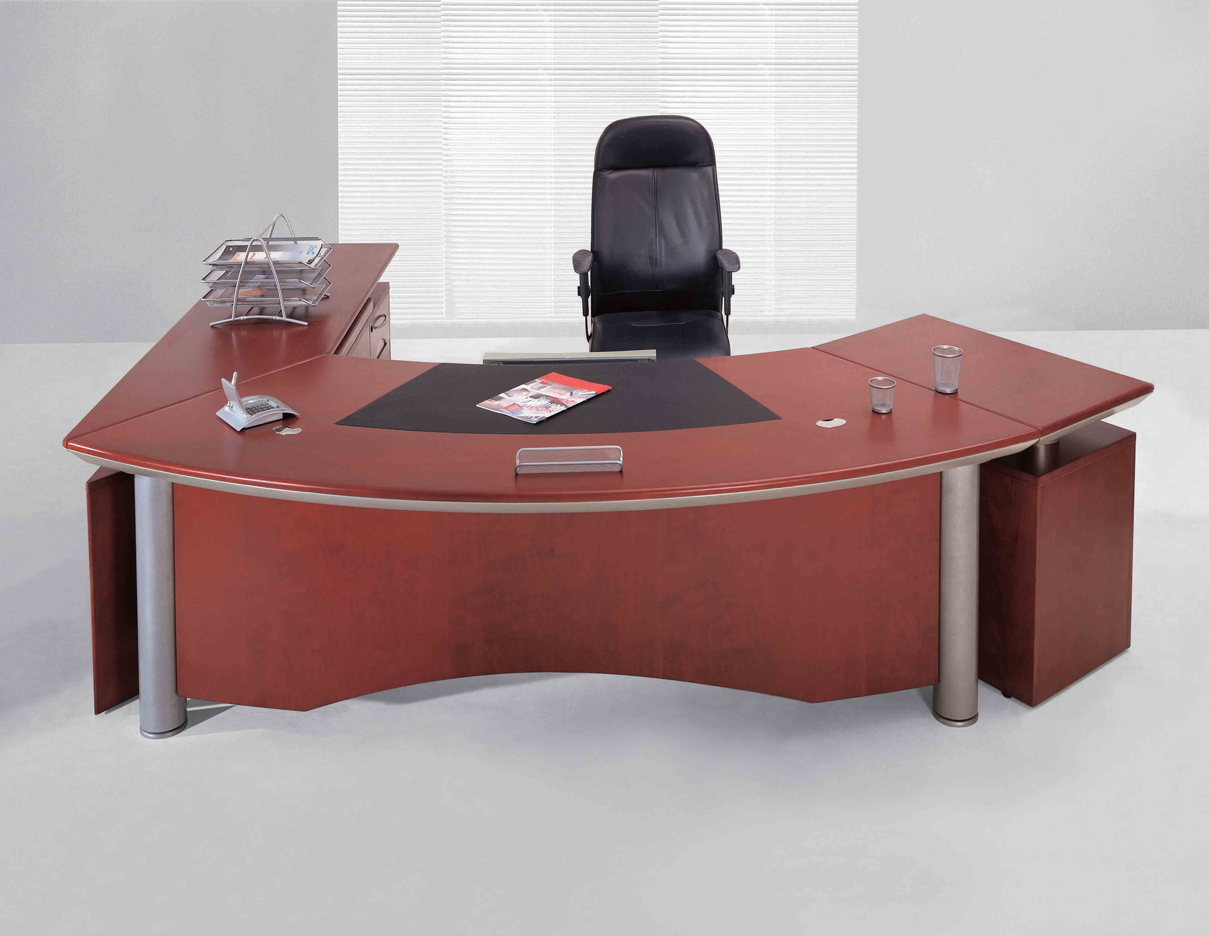 escritorio de oficina de madera minimalista europeo