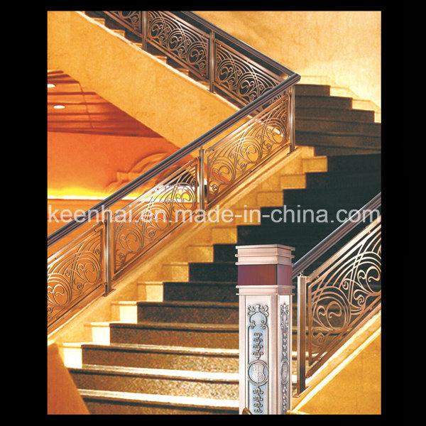 p che la tra ne en aluminium d 39 escalier d 39 int rieur de luxe d coratif de villa photo sur fr. Black Bedroom Furniture Sets. Home Design Ideas