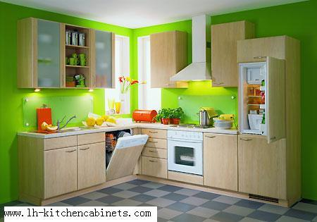 Gabinete de cocina de la melamina lh me009 gabinete de for Modelos de gabinetes de cocina