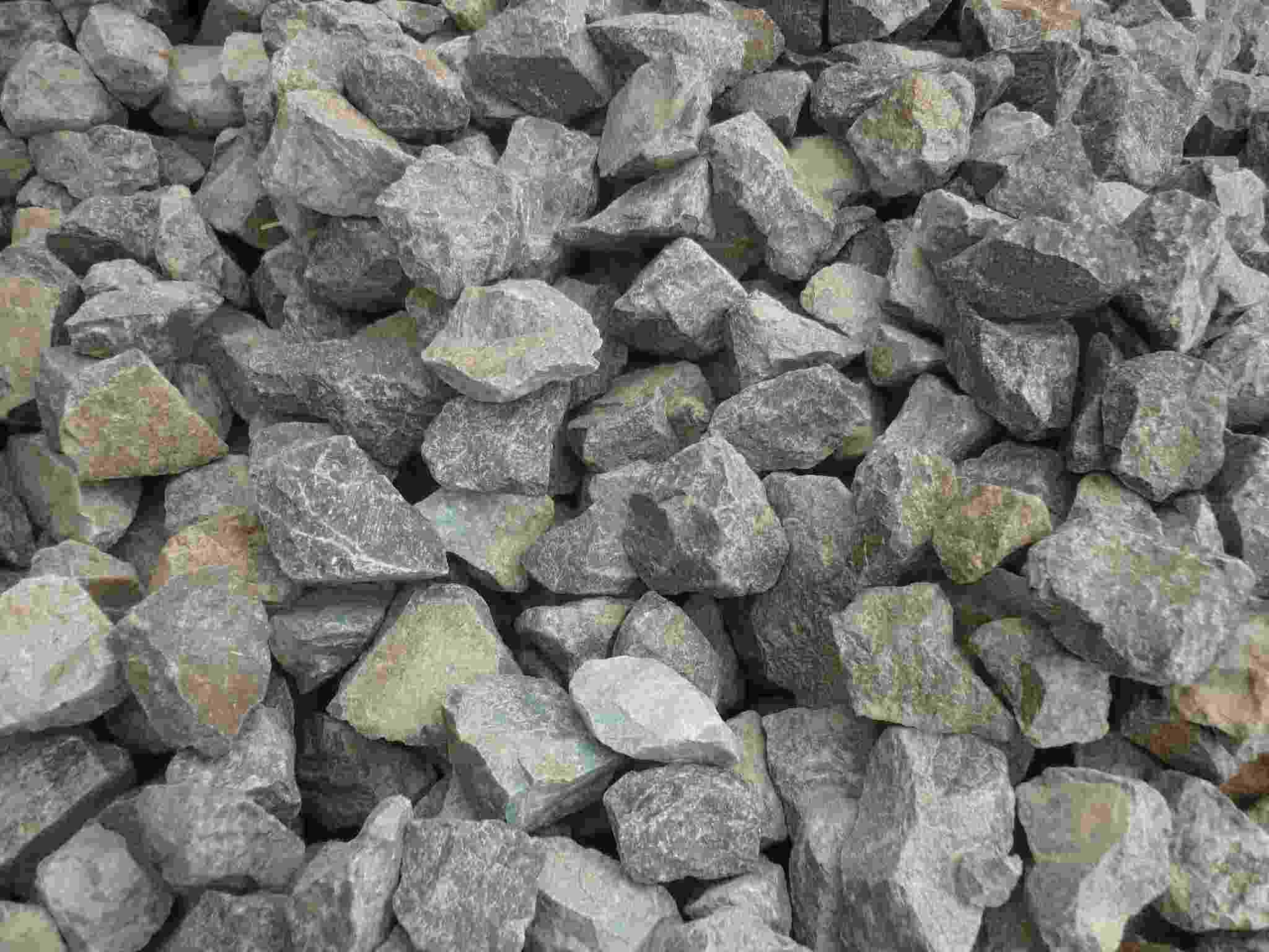 Piedra del basalto construcci n del bloque ferroviario de la piedra del lastre de la grava - Piedras para construccion ...