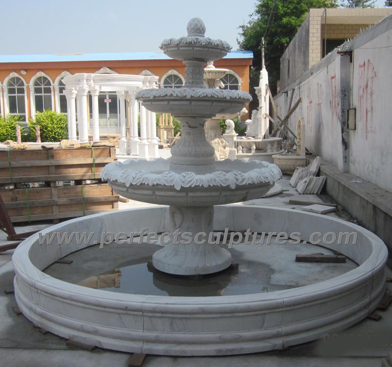 Foto de fuente de agua de m rmol para la fuente de jard n - Fuentes de pared de piedra ...