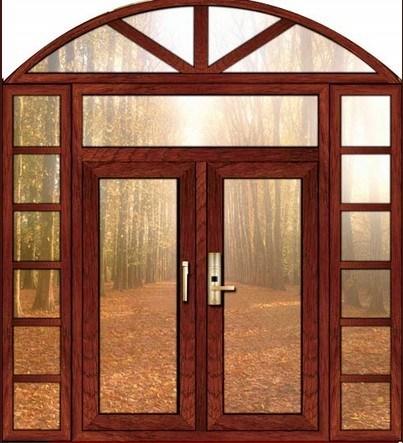 puertas de madera de aluminio con estilo europeo puertas