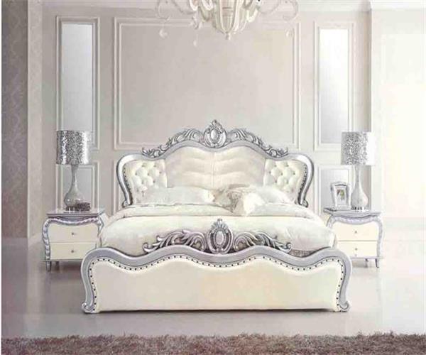 Meubles en cuir classiques de chambre coucher du lit set for Set de chambre a coucher