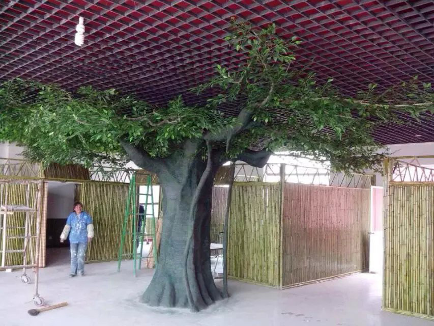 Arbre artificiel de ficus de fibre de verre d 39 int rieur de d coration photo sur fr made in - Arbre deco interieur ...