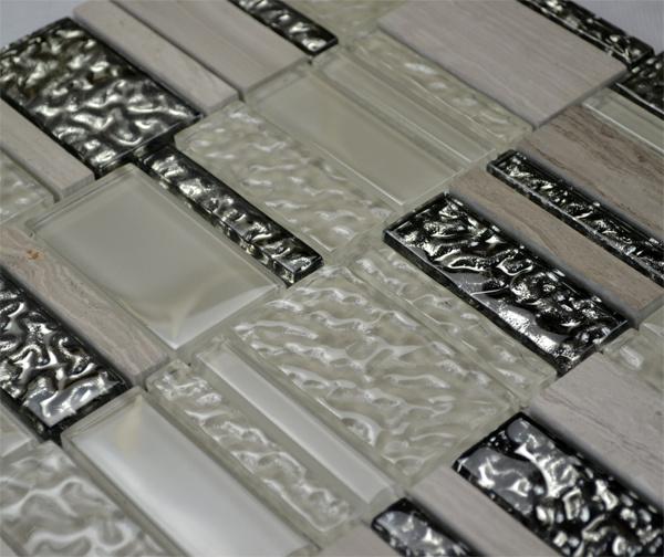 Mosaico di vetro delle mattonelle di mosaico della parete interna della parete della cucina tg - Mosaico per cucina ...