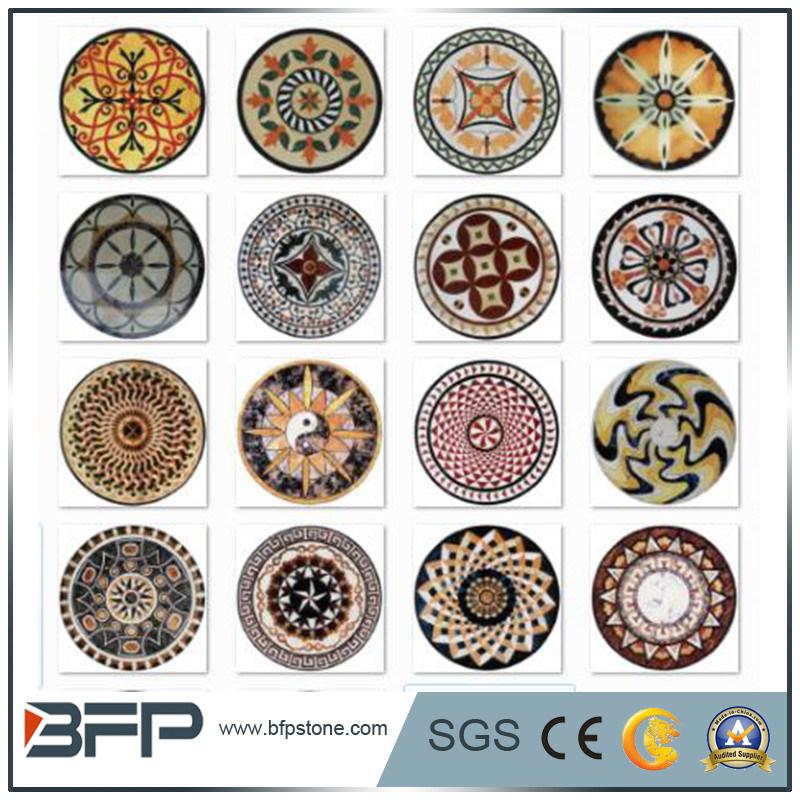 Foto de m rmol piedra mosaico medall n para decoraci n de for Suelo marmol rojo