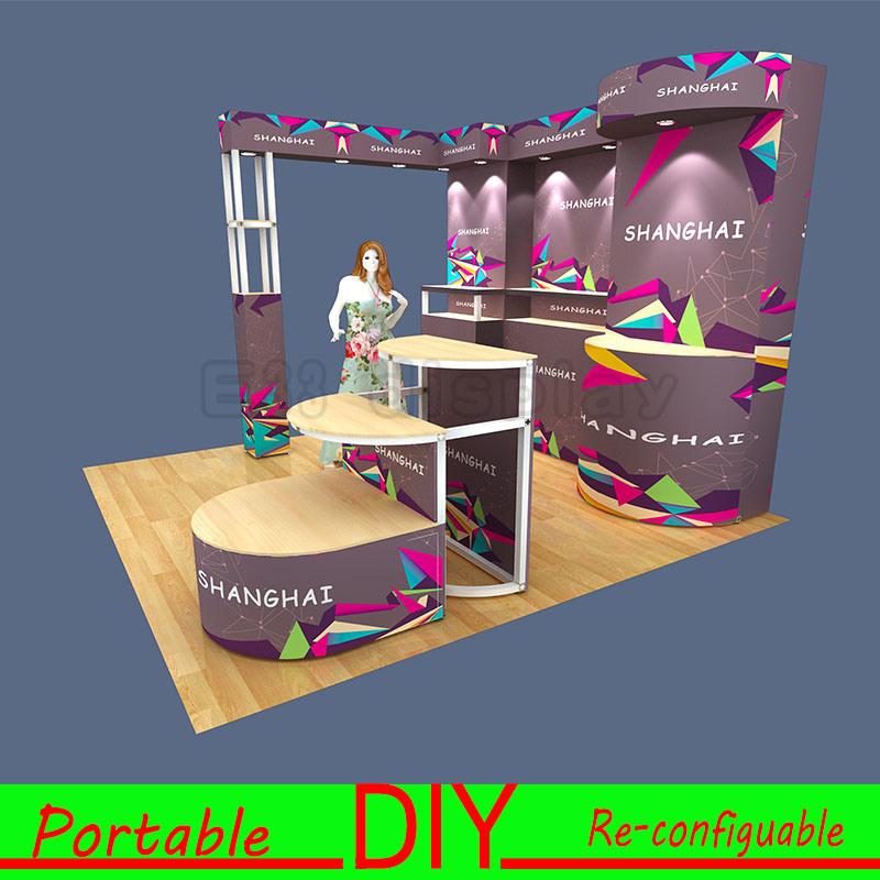 Stand en aluminium respectueux de l 39 environnement de salon for Stand de salon