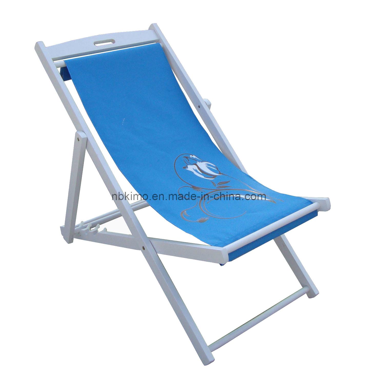 Silla de playa de madera silla de cubierta de madera - Sillas plegables de playa ...