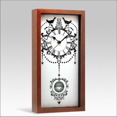 horloge en bois de tableau de bureau avec le m canisme de mouvement de quartz cf03rb 08. Black Bedroom Furniture Sets. Home Design Ideas