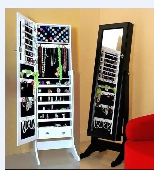 Miroirs debout d coratifs modernes d 39 armoire de bijoux d for Meuble a bijoux ikea