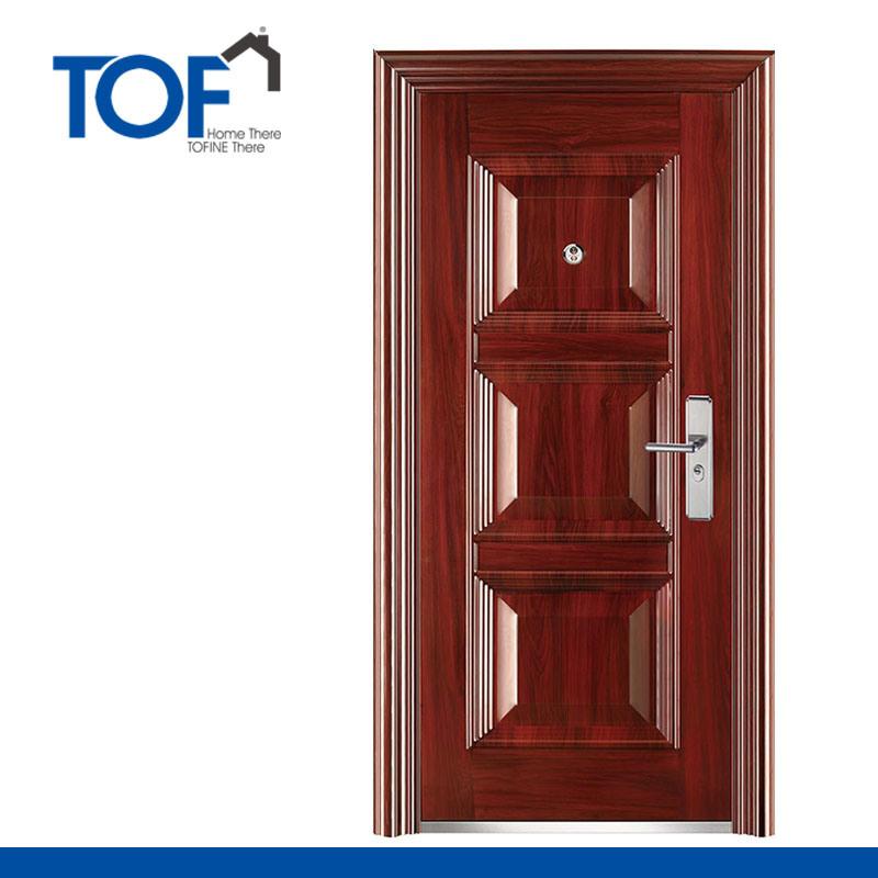 Puertas diseo fabulous jardn y la casa bajo carbono acero for Puertas principales de hierro para casas
