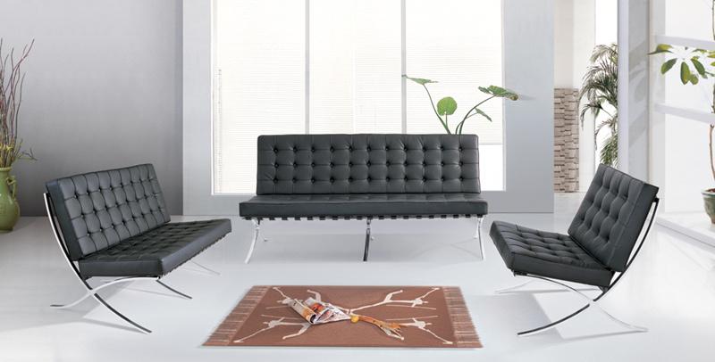 Foto de sof de cuero moderno de barcelona de la oficina for Sofas modernos barcelona