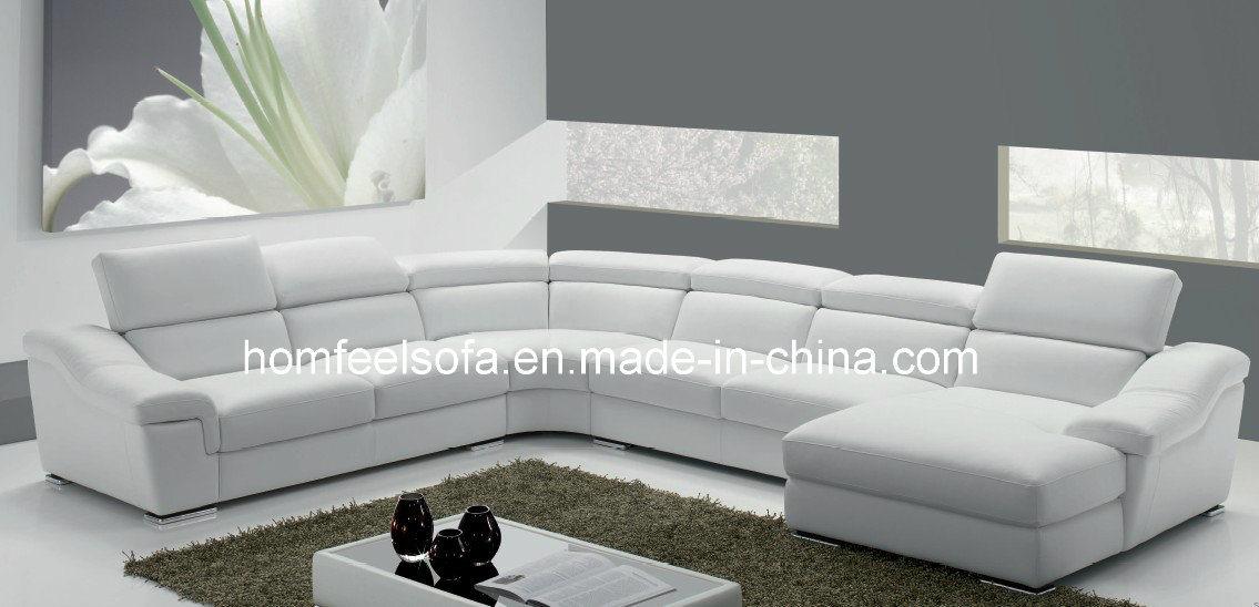 Sofa en cuir sectionnel chinois moderne de tissu de coin de salon f303 so - Le bon coin salon cuir ...