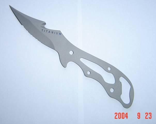 Как сделать нож из титана