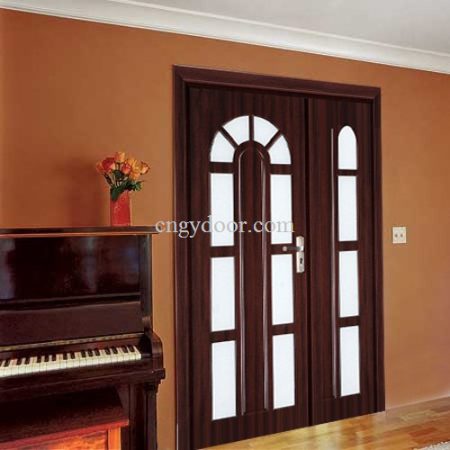 puertas dobles de cristal del pvc gy kg3 puertas