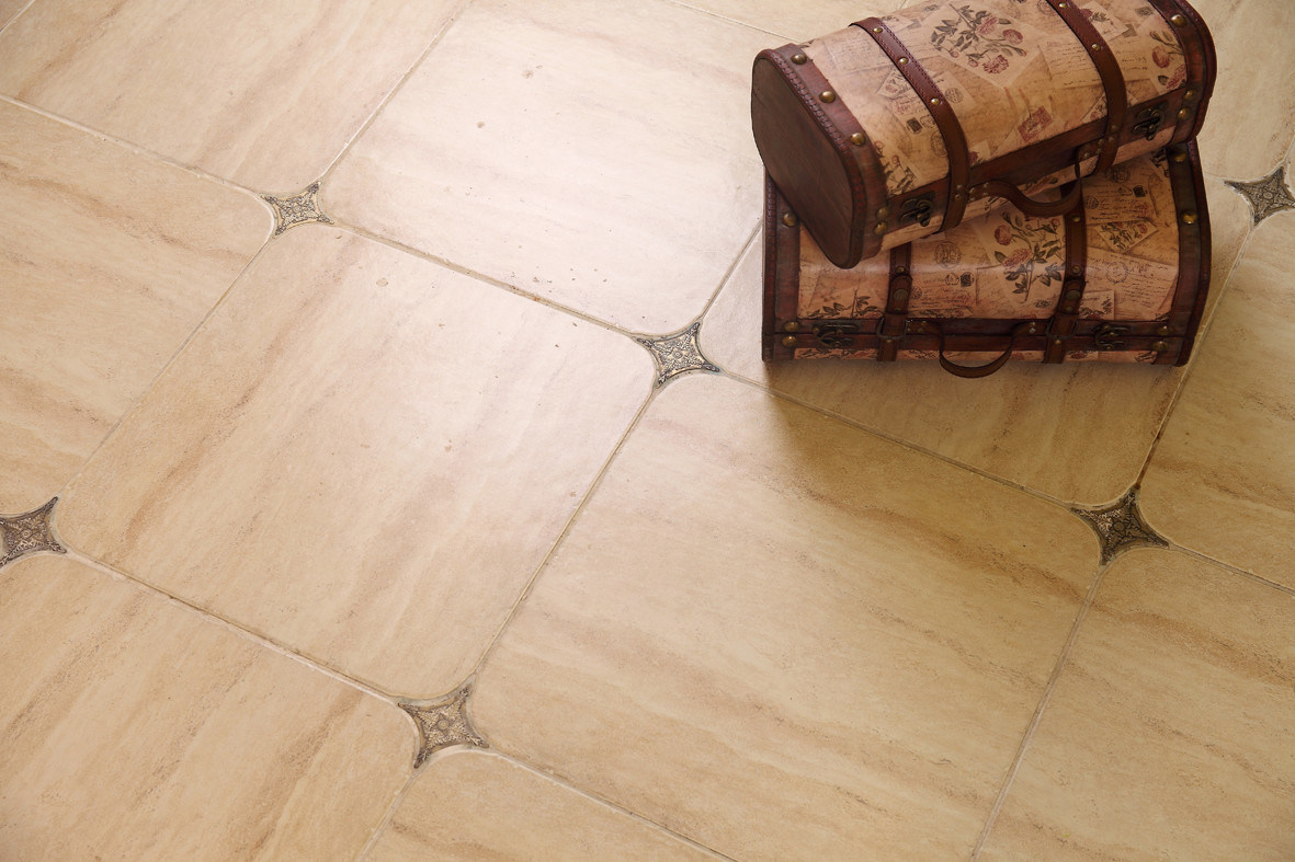 piso de cermica de porcelain del piso del diseo del travertino de m