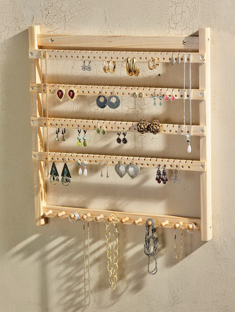 De houten Organisator van Juwelen, de Hanger van Juwelen (c)  u2013 De houten Organisator van Juwelen