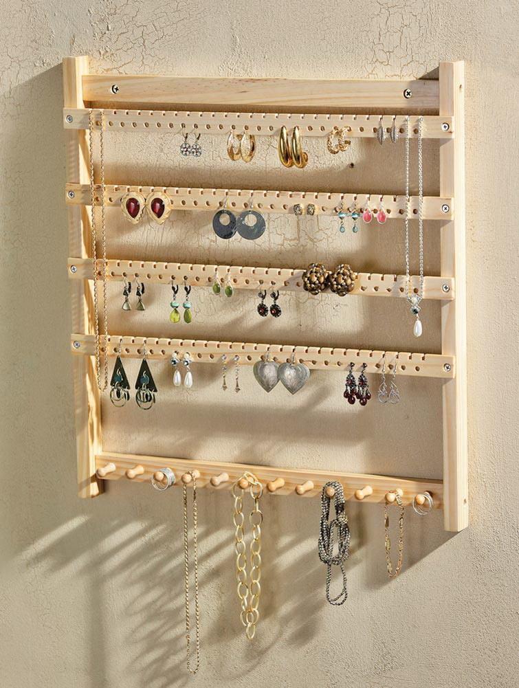 organisateur en bois de bijoux cintre de bijoux c organisateur en bois de bijoux cintre de. Black Bedroom Furniture Sets. Home Design Ideas