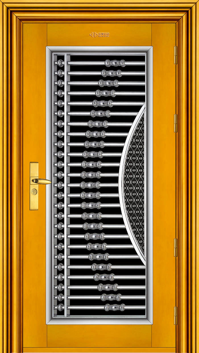 Puerta de seguridad de acero inoxidable dy 8831 puerta for Puertas de acero inoxidable