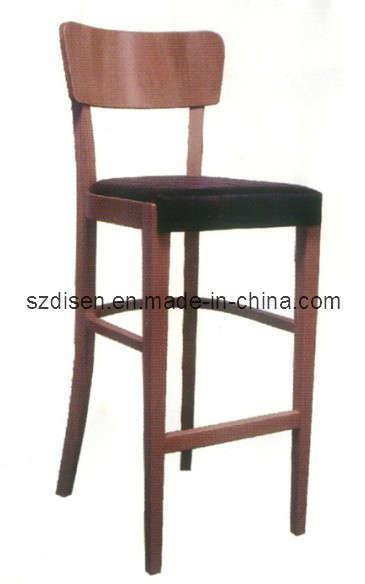 Silla de madera taburete steffy bar silla de madera for Sillas de madera para bar