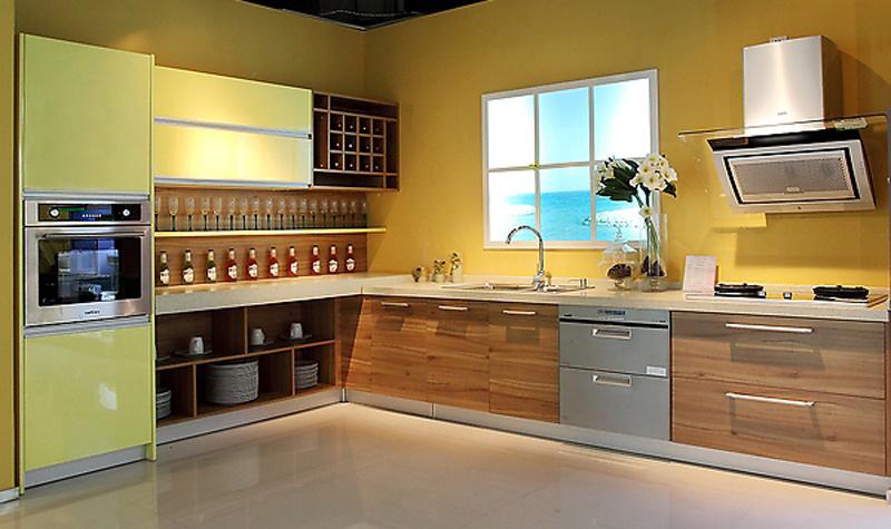 Br m008) meubles de cuisine du nouveau modèle melamine lacquer ...