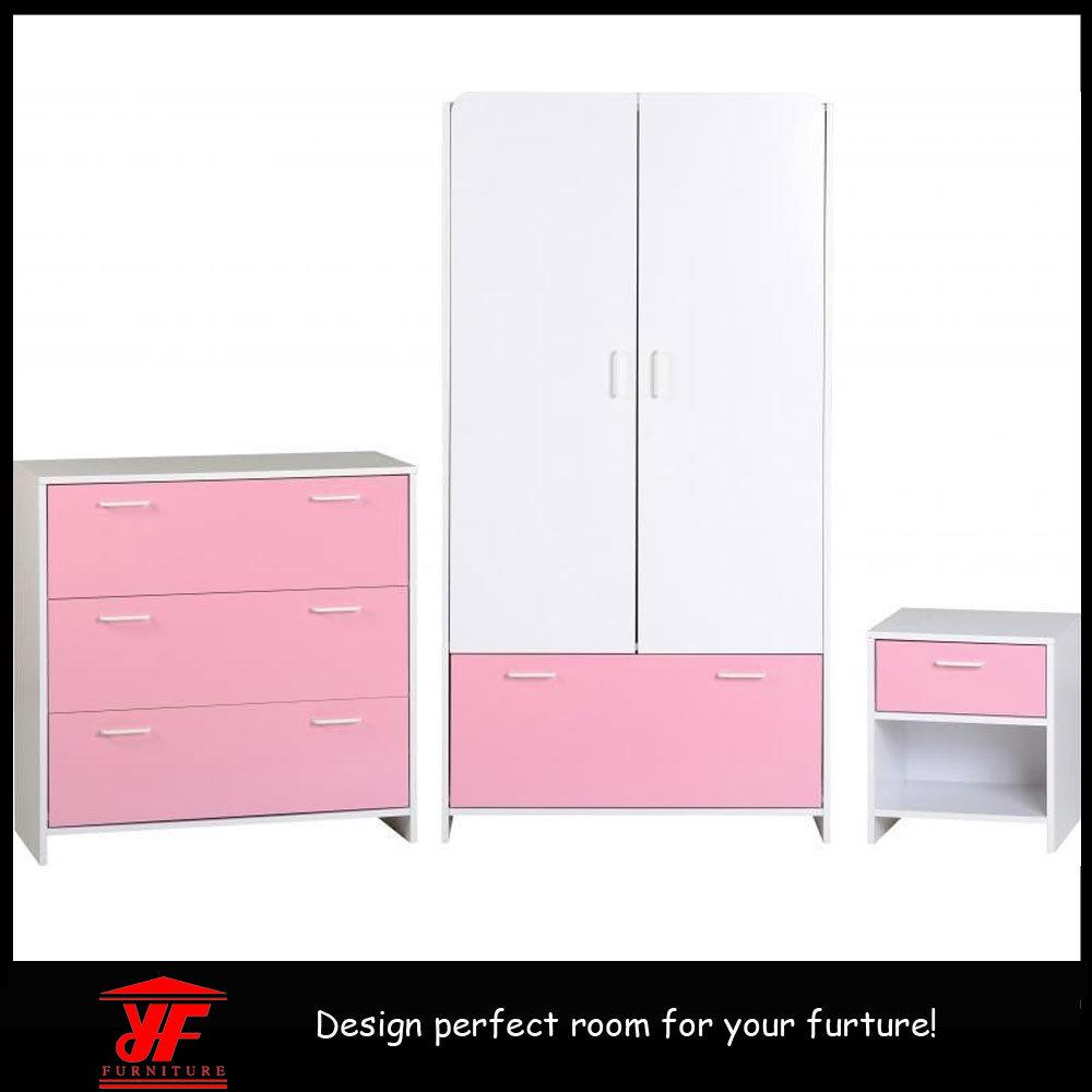 jeu de chambre coucher d 39 enfants de stand de nuit de mod le de garde robe de contre plaqu. Black Bedroom Furniture Sets. Home Design Ideas