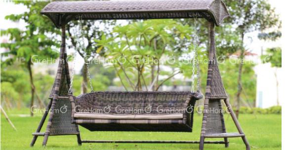 L 39 osier de meubles de patio balance pour le jardin l for Meubles pour le jardin