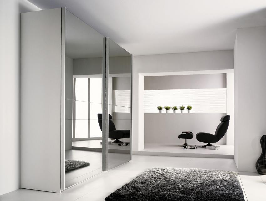 Meubles garde robe de chambre coucher de conception moderne avec la porte c - Garde robe avec porte coulissante ...