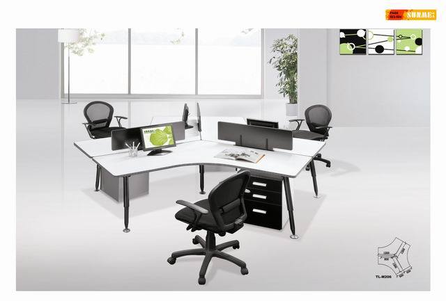 poste de travail populaire de bureau de personnel de meubles de bureau de 3 personnes m206. Black Bedroom Furniture Sets. Home Design Ideas